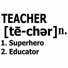 "6"" TEACHER DEFINITION Vinyl Decal Sticker Car Window Laptop Teach School Educate"