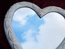 Espejo de Pared Corazón Amor Forma Barroco Oro Blanco Regalo 12