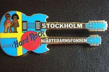 HRC HARD ROCK CAFE Stockholm double neck guitar Kids Heart Foundation 2001 le300