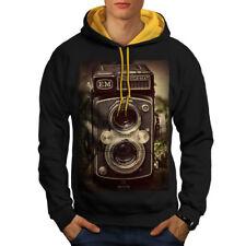 Old Foto Camera Men Contrast Hoodie S-2XL NEW | Wellcoda