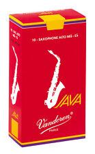 Vandoren java rouge saxophone alto saxophone reeds-boîte de 10-différents dosages