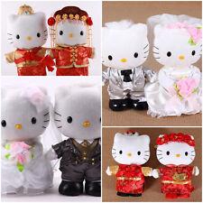CUTE SANRIO HELLO KITTY WEDDING PLUSH DOLL COUPLE GIFT BOX (WEST/CHINESE)
