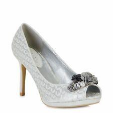 Ruby Shoo Sonia Silver Court Shoe Size EU 36-42 UK 3-8