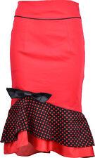 Küstenluder Mermaid vintage polka dots pencil skirt/Rock-rojo