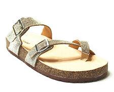 4d8fafd85d12e4 FOREVER Link BIRKEN Womens Glitter Thong Slip On Casual Slide Flip Flop  Sandals
