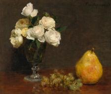 "Henri Fantin-Latour : ""Still Life with Roses and Fruit"" (1863) — Fine Art Print"