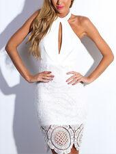 Donna Vestito Bianco Pizzo Fascia Woman Lace Bandeau Dress - 110101