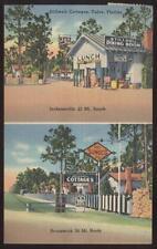Postcard YULEE Florida/FL  Stillwell Tourist Cottages Dual view 1930's