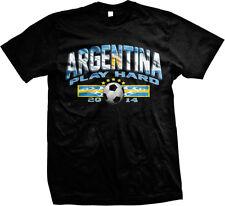 Argentina Play Hard 2014 Football Soccer Fútbol Futbol Selección Mens T-shirt