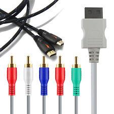 Nintendo Wii U GamePad 6ft Audio Video AV 5 RCA Video Composite Cable & 6FT HDMI