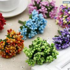 Mini Bouquet Artificial Flower Stamen Party Car Wedding Millinery Decor Supplies
