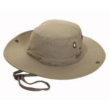 Adults Unisex Wide Brim Aussie Hat with chin cord & hidden  pocket  , fast post