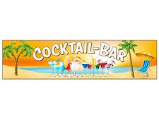 "Banner oder Aufkleber ""COCKTAIL-BAR"" versch. Größen Beach Cocktails Strand Meer"