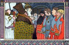 Tsar Afron & Tsar Ivan - Bilibin Russian Folk Art Print