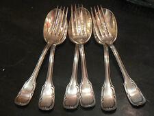 6 anc cuillere fourchette argenté poincon art nouveau