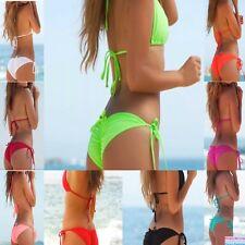 Sexy Swimwear Triangle Brazilian Cheeky Scrunch Back Bikini Swimsuit swimwear #0