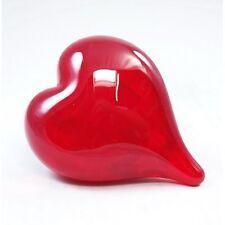M Design Art Glass Red Heart Paperweight Paperweight
