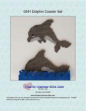 Dolphin Coaster Set- Plastic Canvas Pattern or Kit
