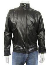 New Men Black Classic Biker Leather Napa Fashions Jacket Bike Rock