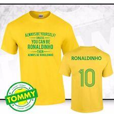 Le Brésil toujours être... Ronaldinho T-shirt Brésil Tee Samba Brésil Fancy Dress