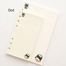 A5/A6 Dot Colourful Planner Diary Insert Refill Schedule Organiser 45 Sheets