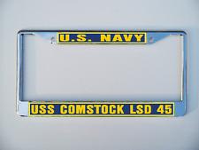 Uss Comstock Lsd 45 License Plate Frame U S Navy Usn Military