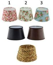 Abat-Jour E27 Lampe Tissu Fleurs Aspect Cuir de Table (F000)