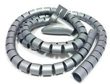 2,66€/m Flexibler Kabelschlauch Kabelspirale Kabelkanal Ordnung Schutz 1,5m