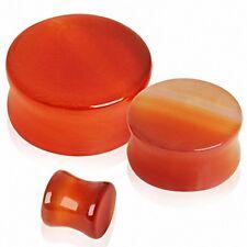 Piercing plug agate rouge