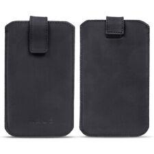 Leder Tasche Pull Tab Universal Smartphone Sleeve Hülle Schutzhülle Case Cover