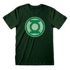 Official Green Lantern T-Shirt Logo Distressed DC Comics Justice League NEW
