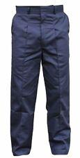 New Male Dark Blue Smart Work Trousers Heavy Duty