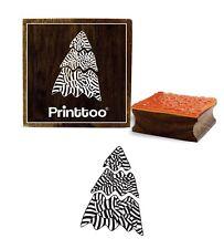 Scrap-Réservation Arbre De Noël Bloc De Timbre En Caoutchouc Bois