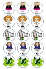 "24 or 15 2"" or 1.5"" Irish dancing cupcake tops toppers edible wafer icing sheet"