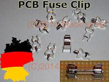 6,10 Sicherungs-halter/ clip f.  Feinsicherung 5x20 M205 PCB Mount Fuse Holder