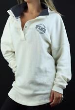 Victoria's Secret Love PINK Varsity Quarter Snap Mockneck Fleece Logo Sweatshirt