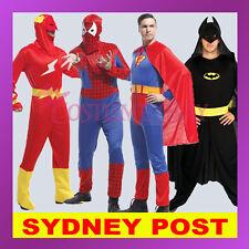 Mens Superheroes Superman Spiderman Batman Flash Halloween Fancy Adult Costume