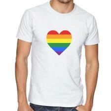 LGBT Heart - T-Shirt Mens/Womens Tee - Pride Summer Gay Colourful Rainbow