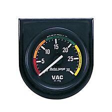"Auto Meter 2337 Autogage Vacuum Gauge Panel 2 1/16"" 30"" Hg. w/6' Nylon Tubing"