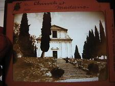 Antique 30s/40s  Magic Lantern Glass Slide    Church at Maderno