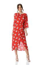 f596f77d01c Roman Originals Women Red Floral Knot Waist Maxi Dress