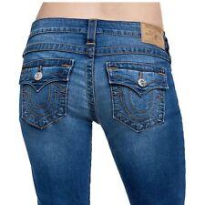 True Religion Women's Skinny Super Stretch Jeans w/Flaps in Cerulean Wave