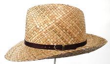Chapeau pour hommes classique Chapeau de paille naturelle courbé Bord Soleil,