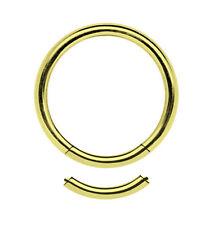 Piercing Joya LISA SEGMENTO anillo acero bañado en oro 1,2mm en 7-12mm diámetro