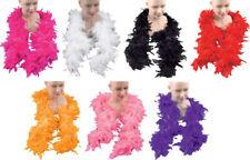 Adult Fancy Dress Costume Party Burlesque Dance Hen Night Feather Boa UK