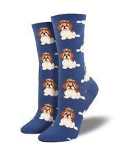 Socksmith Women's Girls White ShihTzu Dog Shih Tzu Dogs Christmas Socks LilyRosa