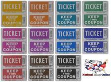 Raffle Tickets (3 Rolls of 2000 Double Tickets) 6,000 Total 50/50 Raffle Tickets
