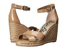 Women's Sam Edelman Brenda Wedge Sandals, E0567S2250 Sizes 5-9.5 Almond Patent