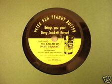 """Davy Crockett Peter Pan Peanut Butter Mitch Miller 7"""""""