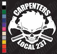 UNION CARPENTER SKULL HAMMERS customizable NUMBER vinyl decal sticker